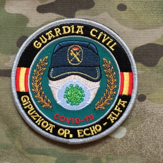 PoliceFirePatches Spain Guardia Civil COVID-19 Gipuzkoa op. Echo - Alfa Patch - nášivka