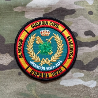 PoliceFirePatches Spain Guardia Civil COVID-19 Operacion Echo - Alfa Espaňa 2020 Patch - nášivka