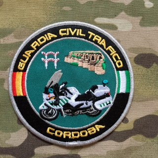 PoliceFirePatches Spain Guardia Civil Trafico Cordoba Patch - nášivka