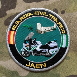 PoliceFirePatches Spain Guardia Civil Trafico Jaen Patch - nášivka