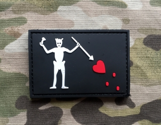 101inc Blackbeard Flag PVC Patch - nášivka