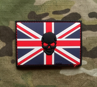 101inc UK Skull Flag PVC Patch - nášivka