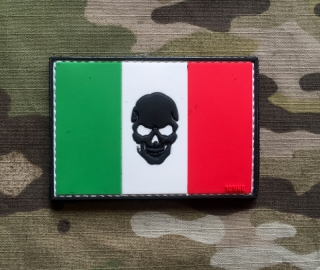 101inc Italia Skull Flag PVC Patch - nášivka