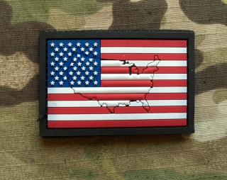 101inc Contour Flag USA PVC Patch - nášivka