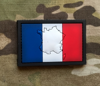 101inc Contour Flag France PVC Patch - nášivka