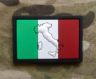 101inc Contour Flag Italia PVC Patch - nášivka