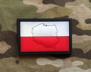 101inc Contour Flag Poland PVC Patch - nášivka