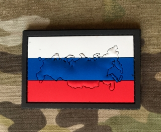 101inc Contour Flag Russia PVC Patch - nášivka