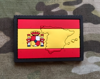 101inc Contour Flag Spain PVC Patch - nášivka