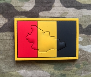 101inc Contour Flag Belgium PVC Patch - nášivka