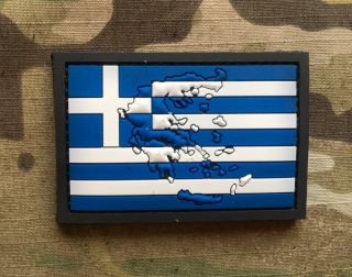 101inc Contour Flag Greece PVC Patch - nášivka