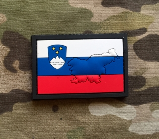 101inc Contour Flag Slovenia PVC Patch - nášivka