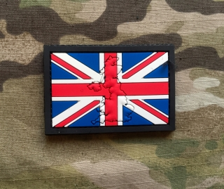 101inc Contour Flag UK PVC Patch - nášivka