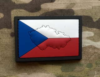 101inc Contour Flag Czech PVC Patch - nášivka