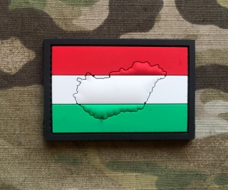 101inc Contour Flag Hungary PVC Patch - nášivka