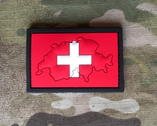 101inc Contour Flag Switserland PVC Patch - nášivka