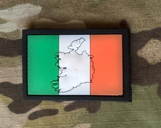 101inc Contour Flag Ireland PVC Patch - nášivka