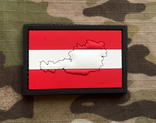101inc Contour Flag Austria PVC Patch - nášivka