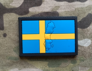 101inc Contour Flag Sweden PVC Patch - nášivka