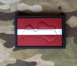 101inc Contour Flag Latvia PVC Patch - nášivka