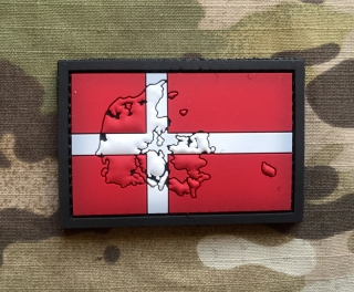 101inc Contour Flag Denmark PVC Patch - nášivka