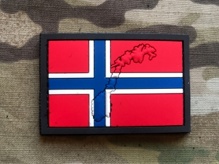 101inc Contour Flag Norway PVC Patch - nášivka