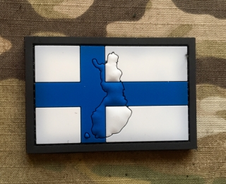 101inc Contour Flag Finland PVC Patch - nášivka