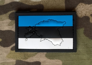 101inc Contour Flag Estonia PVC Patch - nášivka