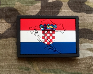 101inc Contour Flag Croatia PVC Patch - nášivka