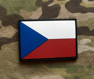 101inc Czech Flag PVC Patch - nášivka