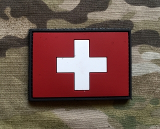 101inc Switzerland Flag PVC Patch - nášivka