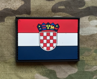 101inc Croatia Flag PVC Patch - nášivka