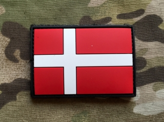 101inc Denmark Flag PVC Patch - nášivka