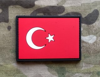 101inc Turkey Flag PVC Patch - nášivka