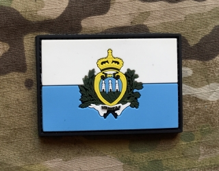 101inc San Marino Flag PVC Patch - nášivka