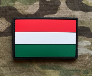 101inc Hungary Flag PVC Patch - nášivka
