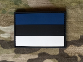 101inc Estonia Flag PVC Patch - nášivka