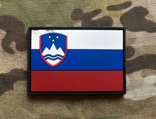 101inc Slovenia Flag PVC Patch - nášivka