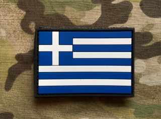 101inc Greece Flag PVC Patch - nášivka