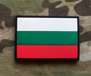 101inc Bulgaria Flag PVC Patch - nášivka