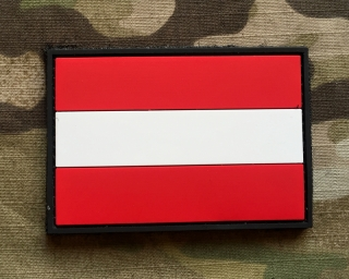 101inc Austria Flag PVC Patch - nášivka