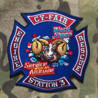 911Patches Cy-Fair Volunteer Fire Department Station 3 Patch - nášivka