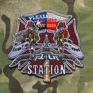911Patches Pleasanton Fire Department Station 1 Patch - nášivka