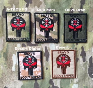 YJPF Bravo Scout Sniper Punisher Patch