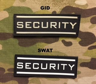 JTG Security Small PVC Patch