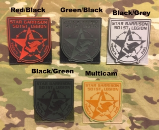 YJPF 501st Legion Star Garrison PVC Patch