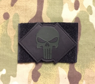 YJPF DEVGRU Punisher Skull PVC Patch