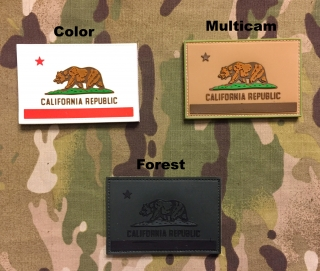 YJPF California Flag PVC Patch