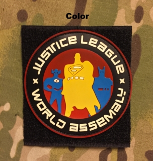 YJPF Justice League World Assemaly PVC Patch