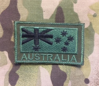 LaPatcheria Australia Flag Patch Olive